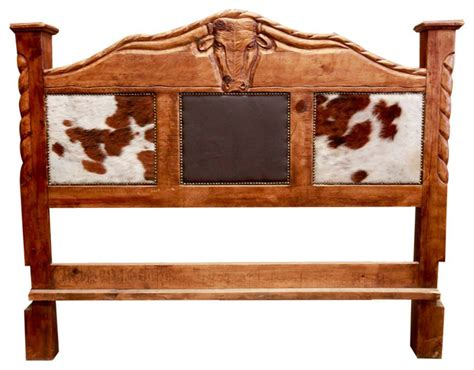 Cowhide Headboards by Rustic Cowhide Bed Farmhouse Headboards By Foxden Decor