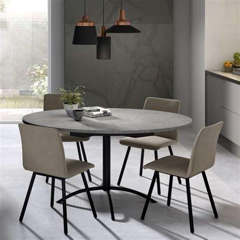 table de cuisine grise table de cuisine ronde en stratifié extensible laser 4
