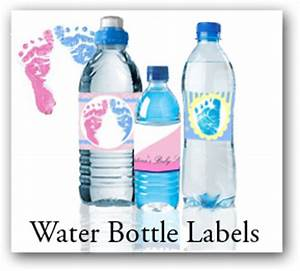 personalized baby shower labels stickers and coasters With design your own water bottle labels