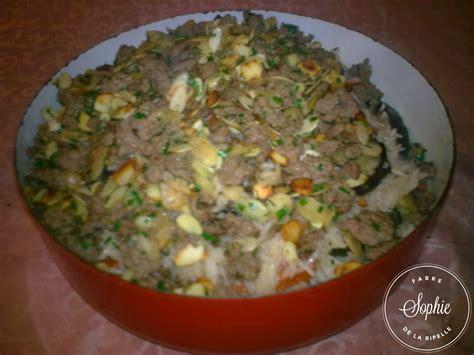 recette riz cuisiné ragoût à la viande aux aubergines et au riz maklouba