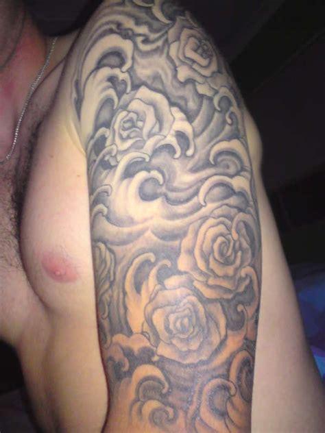 celtic love hope sleeve tattoo roses waves  sleeve