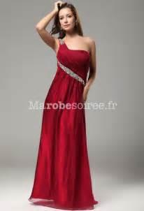 robe de soiree mariage robe de soirée longue asymétrique framboise mariage mousseline