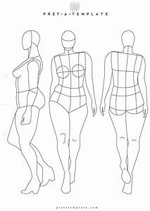 plus size woman body figure fashion template d i y your With fashion sketchbook with templates