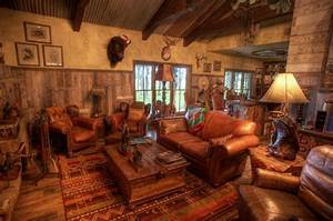 South Texas Ranch - Rustic - Family Room - other metro