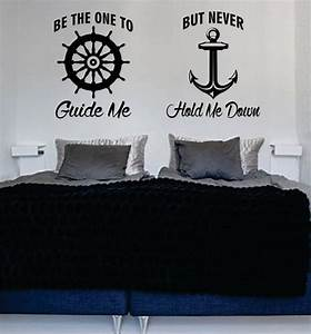 Be The One To Guide Me Quote Anchor Boat Wheel Nautical