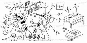 Honda Small Engine Parts G200 Oem Parts Diagram For Label