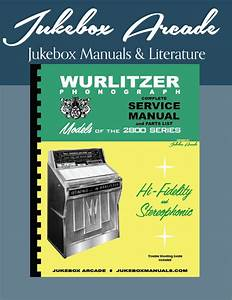 New  Wurlitzer 2800  2810 Service Manual  Parts List