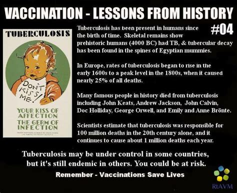 Vaccine Memes - vaccination lessons from history 4 tuberculosis tuberculosis can be prevented by a simple