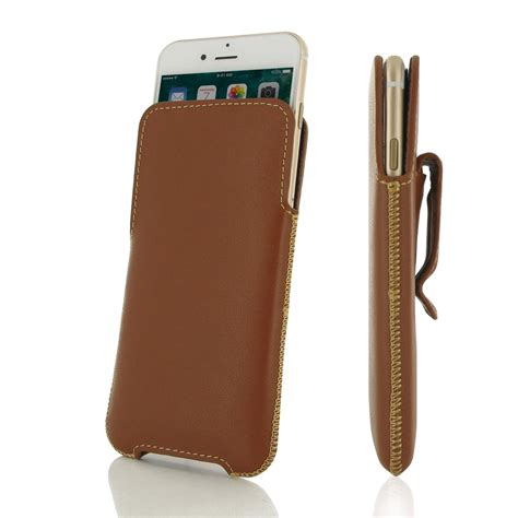 iphone with clip iphone 6 6s plus luxury pouch with belt clip brown