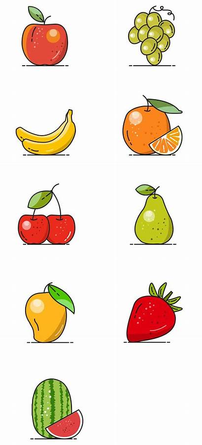 Fruit Vector Icons Icon Clipart Fruits Pdf