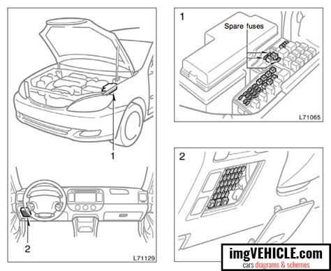 Toyota Camry Fuse Box Diagrams Schemes Imgvehicle