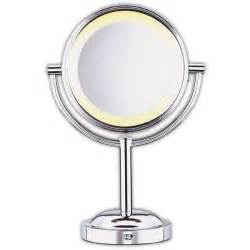 conair double sided 5x 1x lighted makeup mirror