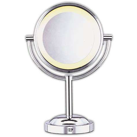conair lighted mirror conair sided 5x 1x lighted makeup mirror mirrors