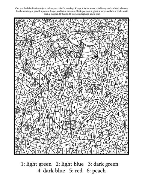 color number finder color by number coloring page find the objects