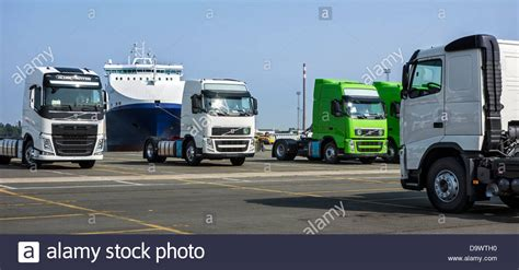 volvo truck manufacturing plants trucks from the volvo trucks assembly plant waiting to be