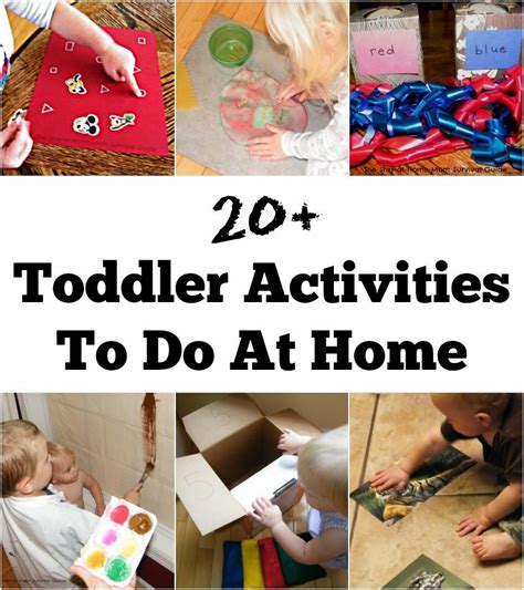 toddler activities the stay at home survival guide 876 | activities for toddlers at home title