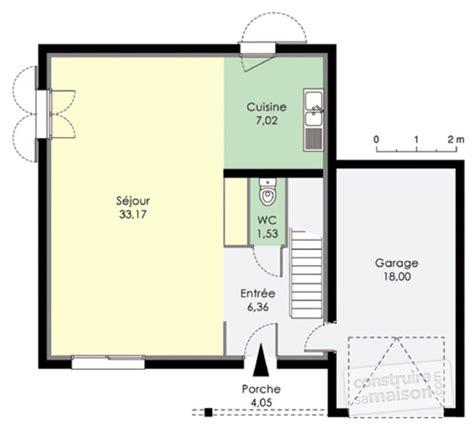 plan maison rdc 3 chambres maison pour primo accédants dé du plan de maison