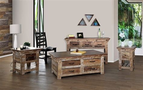 ifd furniture  casablanca rustic coffee table set