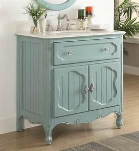 34, Inch, Bathroom, Vanity, Coastal, Cottage, Beach, Style, Vintage, Blue, Color, 34, U0026quot, Wx21, U0026quot, Dx35, U0026quot, H, Cgd1533bu