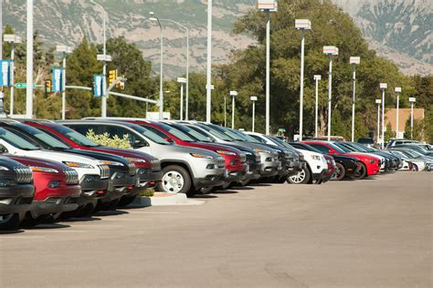 Row Of Cars At A  Ee  Car Ee    Ee  Dealership Ee   P O Showing A Row Of