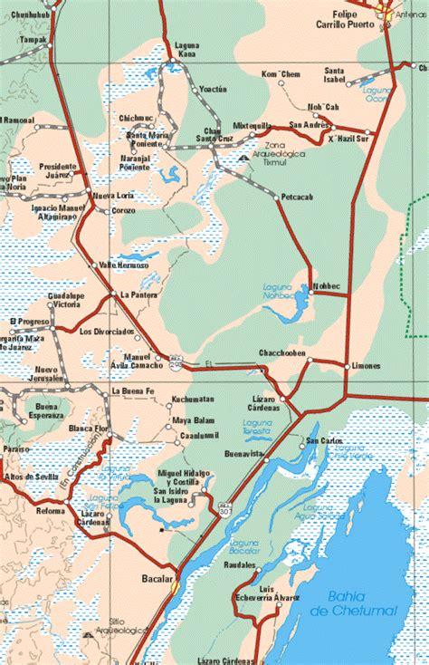 quintana roo mexico mapa