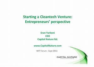Eran Yarkoni - Starting A Cleantech Venture ...