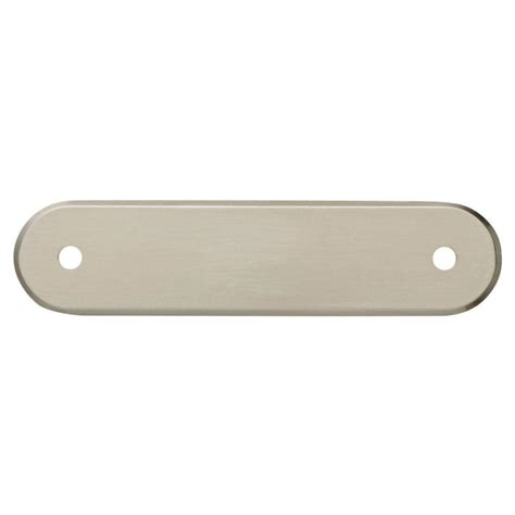 liberty 3 in satin nickel oval cabinet pull backplate