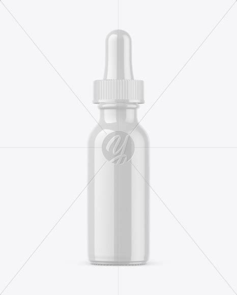 ✓ free for commercial use ✓ high quality images. Glossy Dropper Bottle Mockup in Bottle Mockups on Yellow ...