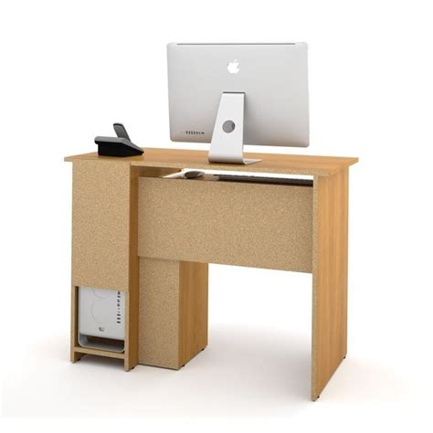 small wood computer pemberly row small wood computer desk in cappuccino cherry