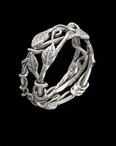 vine leaf ring sz 7 1 4 art jewelry by poppy With leaf and vine wedding ring