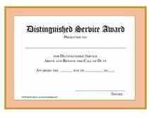 long service certificate template sample - printable distinguished service awards certificates templates
