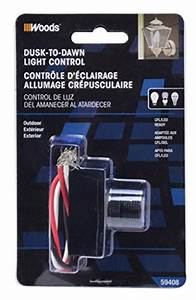 Woods 59408 Outdoor Hardwire Light Control With Photocell
