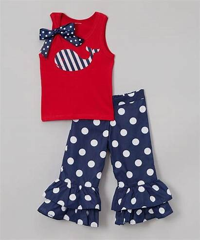 Boutique Outfit July Clothes Independence 4th Children