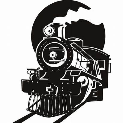 Train Steam Clipart Silhouette Clip Express Polar