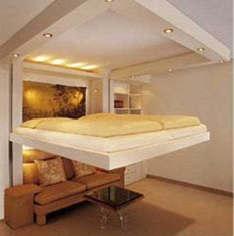 Saving Space With A Suspended Bedroom by Spacy Bed Space Saver Awesome And Guest Bed