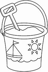 Bucket Shovel Coloring Pages Colouring Clipart Spade Pail Print Sand Sailship Decorated Template Drawing Printable Templates Sketch Well Webstockreview Garden sketch template