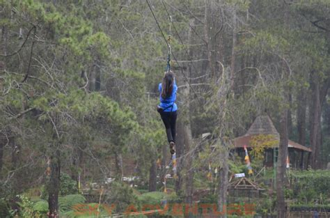 flying fox  grafika cikole lembang bandung outbound