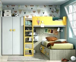 Lit Superposé Ado : chambre ado avec lit mezzanine ado lit mezzanine mezzanine ~ Farleysfitness.com Idées de Décoration