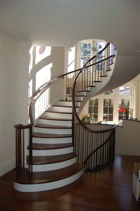 curved stairs colonial woodworking bradford
