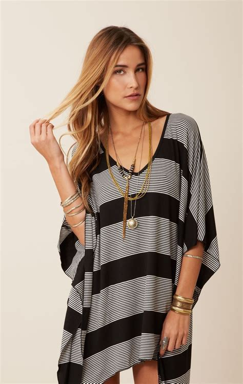 black and white striped v neck striped cape bluelife ourbrand blue