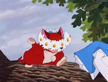 Alice Wonderland Dinah Cat Disney Daisy Daisies