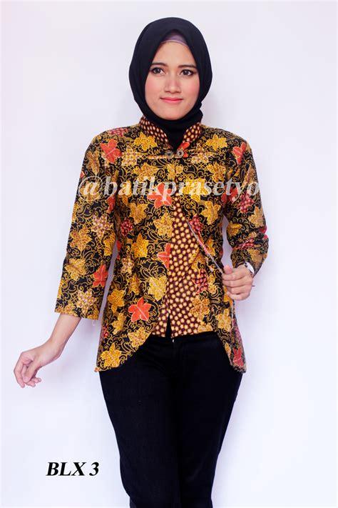 blus batik wanita terbaru blx 3 batik prasetyo