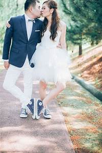 5 unexpected things to wear with your wedding dress With wedding dress with sneakers