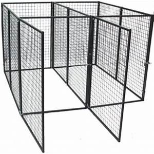 shop options plus 6 ft x 6 ft x 4 ft outdoor dog kennel With outdoor dog kennel box kit