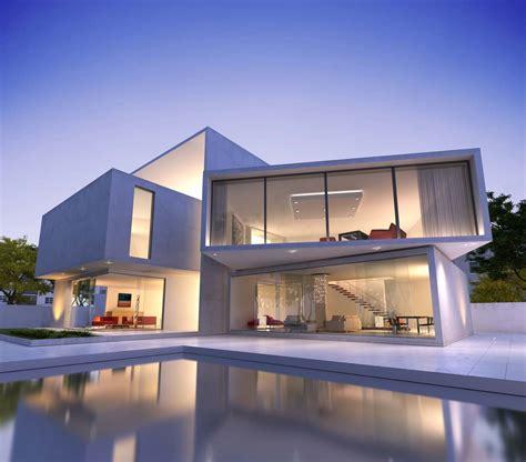 Traumhaus Modern Mit Pool by 别墅建筑模型设计高清图片 素材中国16素材网
