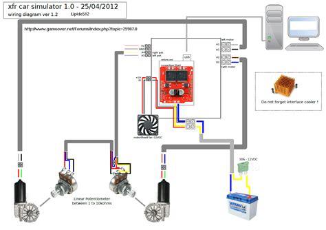 wiring diagram simulator 2dof motion simulator with truck wiper motor playseat