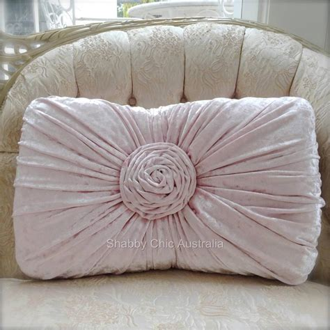 shabby chic velvet blanket shabby french chic vintage pink velvet rectangle rose plush cushion toss pillow ebay