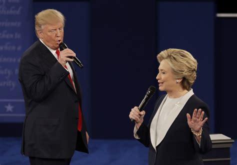 presidential debate donald trump  hillary clinton read