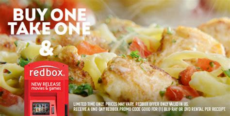 buy one take one olive garden olive garden buy one take one is back free redbox rental