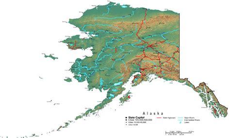 alaska map  maps  alaska state